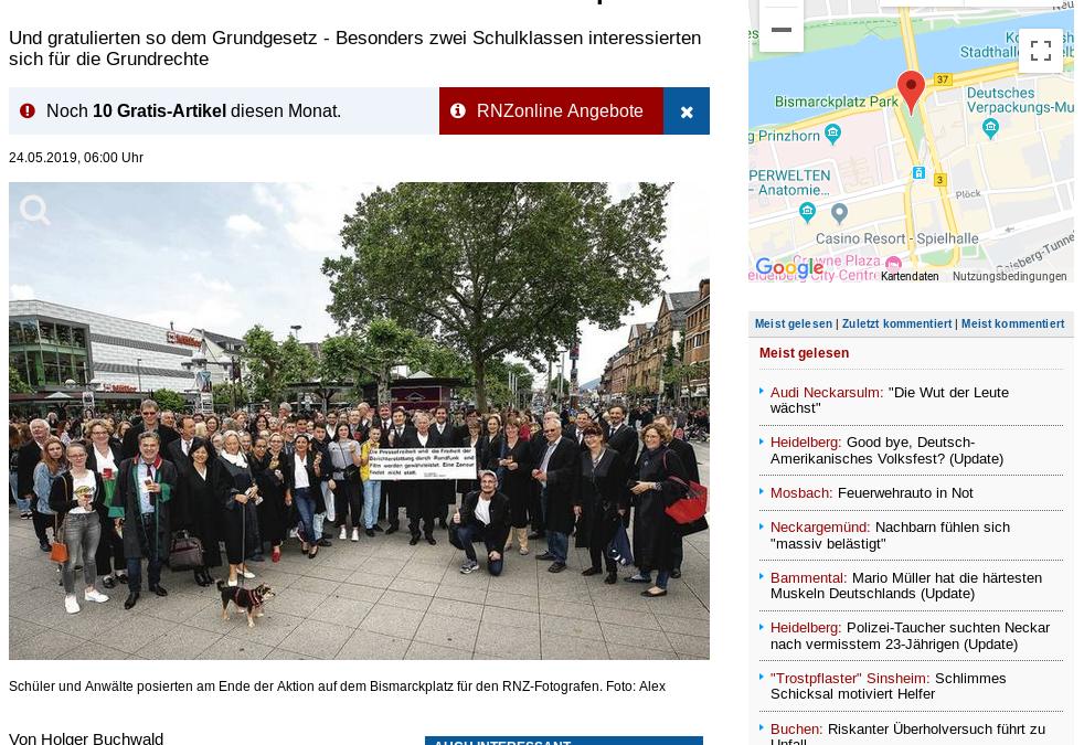 Anwälte starteten Flashmob auf dem Bismarckplatz