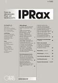 IPRax - Praxis des Internationalen Privat und Verfahrensrechts
