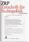 ZRP - Zeitschrift für Rechtspolitik