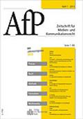 AfP - Zeitschrift fuer Medien und Kommunikationsrecht