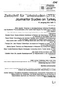ZfTS - Zeitschrift für Türkeistudien